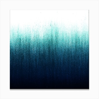 Teal Ombre Square Canvas Print