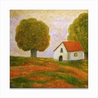 Silent Evening Square Canvas Print