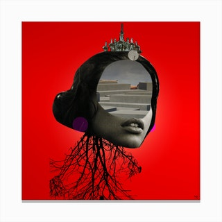 The Red Girl 1 Canvas Print