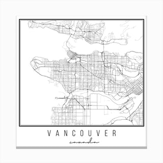 Vancouver Canada Street Map Canvas Print