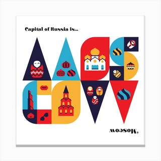 Moscow -Metro Pattern Canvas Print