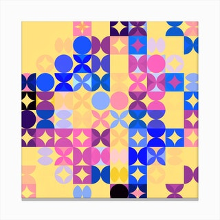 Colorful Modern Geometric Pattern Ii Canvas Print