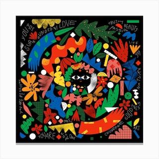 Mandala Square Canvas Print