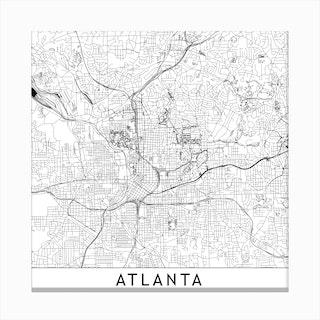 Atlanta Map Canvas Print
