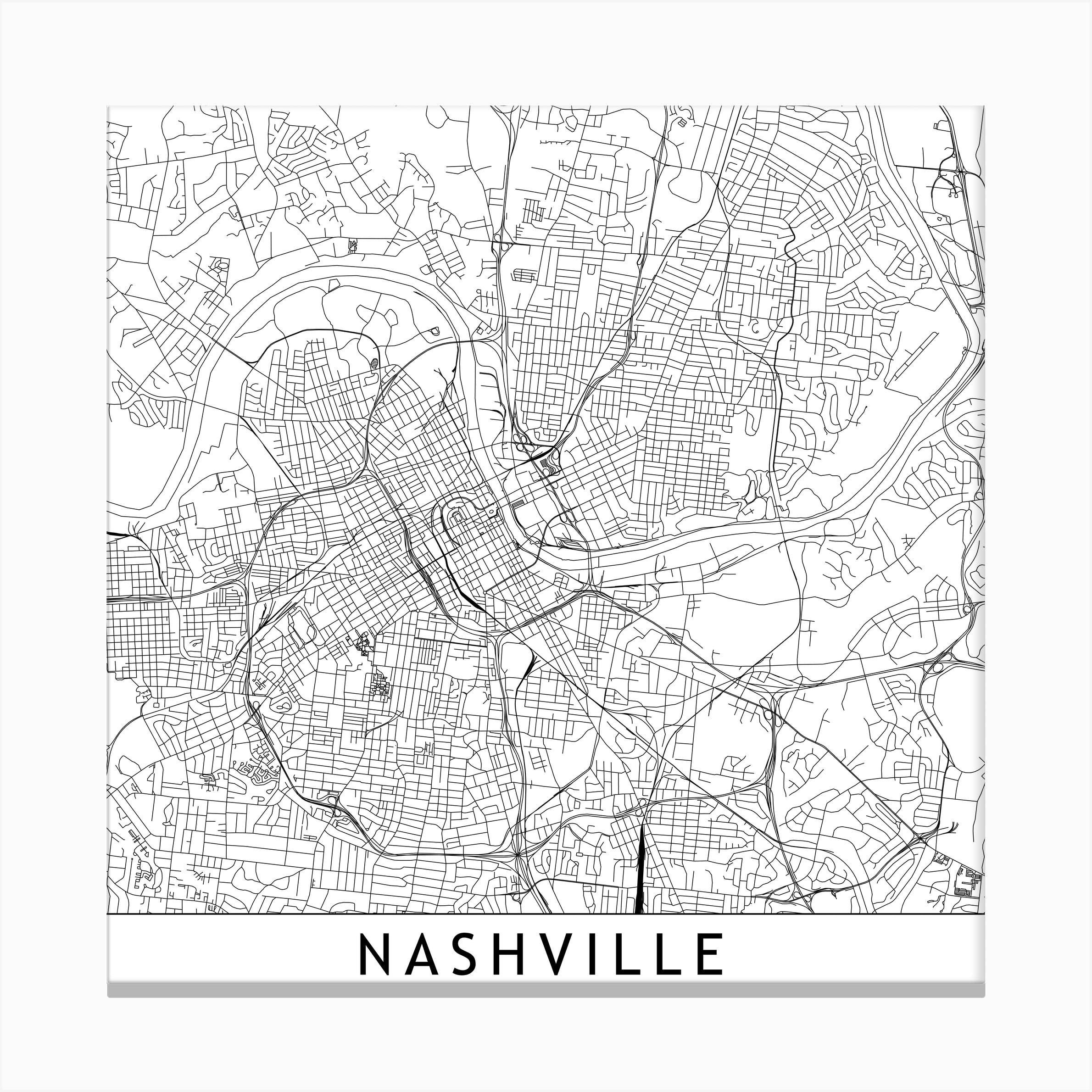 This is an image of Printable Map of Nashville intended for broadway map