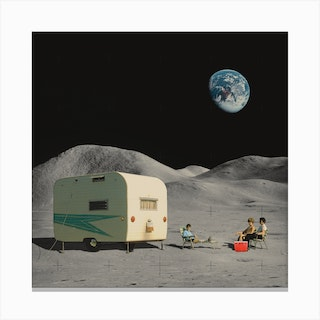 Space Camping Canvas Print