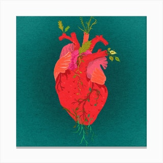 Heart Square Canvas Print