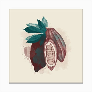 Cocoa Square Canvas Print