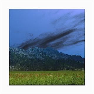 Atmosphere · Blue4 Canvas Print