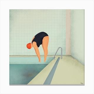 Swimmer2 I Canvas Print