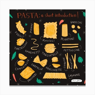 Pasta Introduction Canvas Print