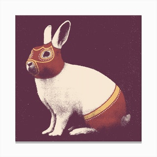 Wrestler Rabbit Canvas Print