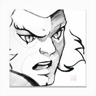 Lion O Square Canvas Print