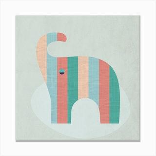 Scandi Elephant Nursery Canvas Print