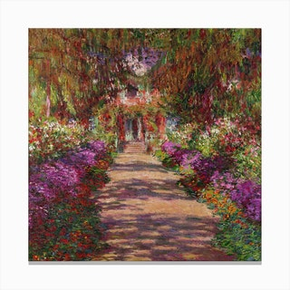 A Pathway In Monets Garden Giverny 1902 Canvas Print