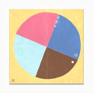 Four Parts Minimalist Mandala Canvas Print