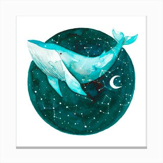 Cosmic Whale 1 Canvas Print