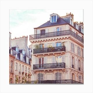 Paris Bliss Square Canvas Print