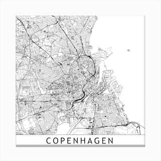 Copenhagen Map  I Canvas Print