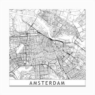 Amsterdam Map  I Canvas Print