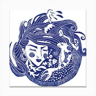Mermaid On Chesil Square Canvas Print