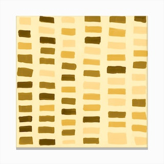 Painted Color Block Window Pane In Yellow Canvas Print
