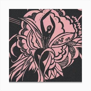 Flower Dancer Pink Canvas Print