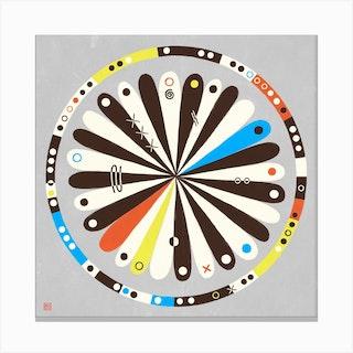 Target Meditative Mandala Canvas Print