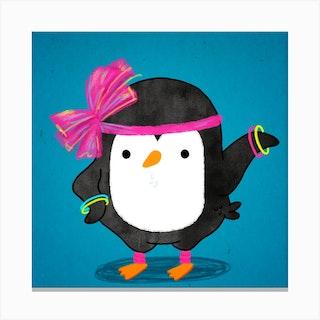 Penguin 80s Fashion Style Canvas Print
