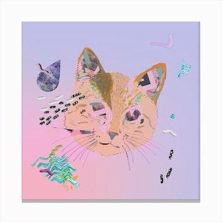 Cat Galaxy Print Canvas Print