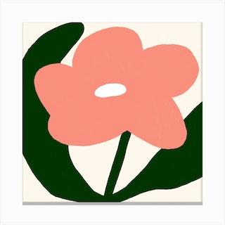 Pretty In Pink Square Canvas Print