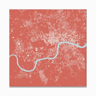 London in Pink Canvas Print
