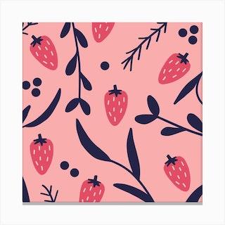 Strawberry Square Canvas Print
