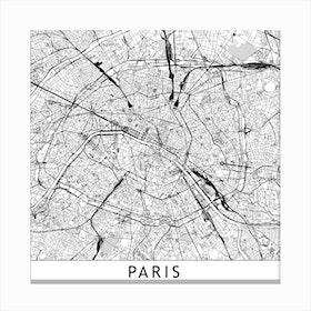 Paris Map  I Canvas Print