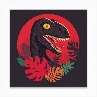 Tropic Raptor Square Canvas Print