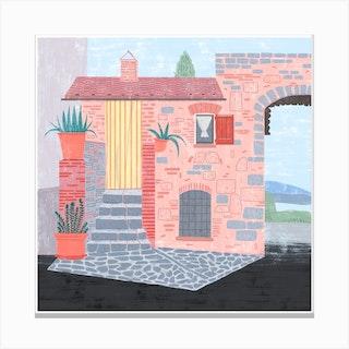 Italian House Canvas Print
