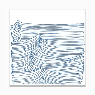 Blue Continuous Sea2 Canvas Print