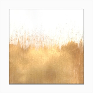 Brushed Gold Square Canvas Print