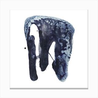 Blue Elephant 2 Canvas Print
