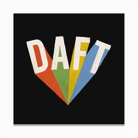 Daft On Black Canvas Print