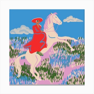 Horse 2 Square Canvas Print