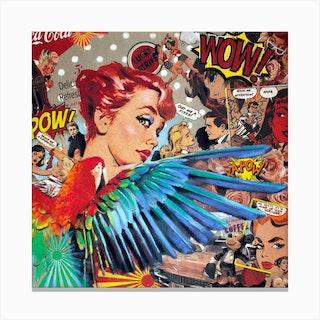 Parrot Pin Up Pop Canvas Print