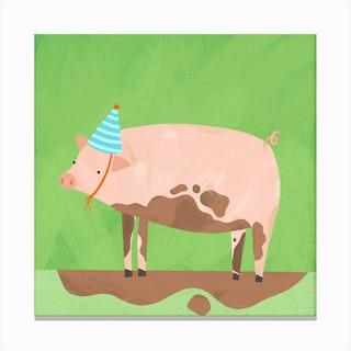 Party Pig Canvas Print