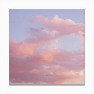 Clouds 02 Square Canvas Print