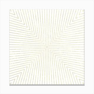 Converge Light Gold Square Canvas Print