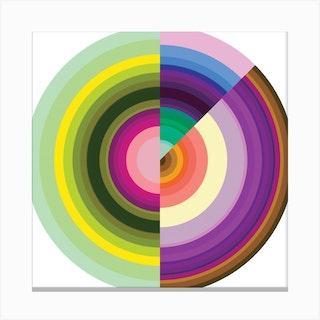Color Wheel Circle 3 Square Canvas Print