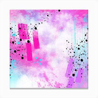 Abstract Explosion 2 Square Canvas Print