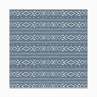 Boho Blue Canvas Print