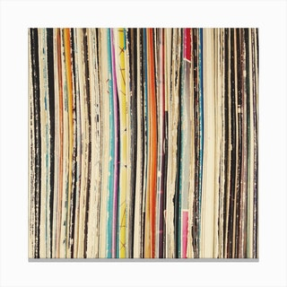 Record Collection Canvas Print