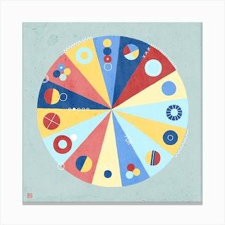 Fortune Wheel Meditative Mandala Canvas Print
